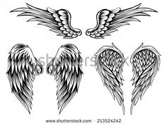Tribal Tattoo Wings Stock Photos, Images, & Pictures | Shutterstock