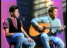 JC Chasez and Tony Lucca performing More Than Words on the New Mickey Mouse Club.