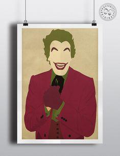 The Joker Cesar Romero Minimalist Poster by Posteritty #MinimalistJoker #Batman #Posteritty