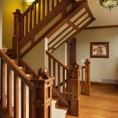 Craftsman Home I like the style they have with the wood I'm one to have all hardwood flooring