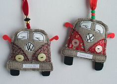 VW Van Christmas Decorations. Volkswagen Bus by SwinkyDoo on Etsy