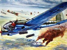 Heinkel He 111 Airfix 1963 a Ww2 Aircraft, Fighter Aircraft, Military Aircraft, Luftwaffe, Airfix Models, Aircraft Painting, Airplane Art, Cross Art, Ww2 Planes
