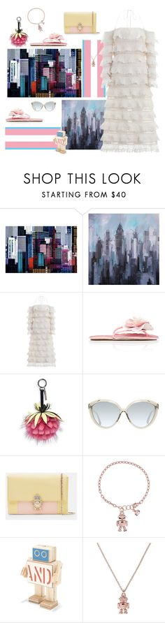 """""""Too hot to function 🤖"""" by juliabachmann ❤ liked on Polyvore featuring Brewster Home Fashions, Zimmermann, Miu Miu, Fendi, Linda Farrow and Ted Baker"""