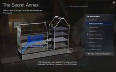 If you can't make it to Amsterdam, The Secret Annex Online offers an interactive tour of the Anne Frank house, the famed home of the young Holocaust diary writer. Anne Frank House, Front Hallway, Annex, Art And Technology, The Secret, Amsterdam, Two By Two, Writer, Museum