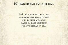 #44, att fastna i en bok.