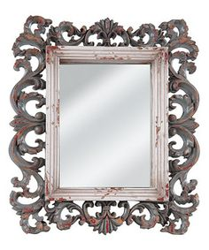 Another great find on #zulily! Distressed Fleur-de-Lis Rectangle Wall Mirror by Wilco #zulilyfinds