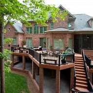 Outdoor Living...with the bottom converted into a play area for the kids.