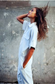 325e137bbc3a8 Super cool white jumpsuit with sleeves. Perfect for spring Urban Fashion