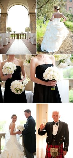 Love the black and white! #black #white #wedding