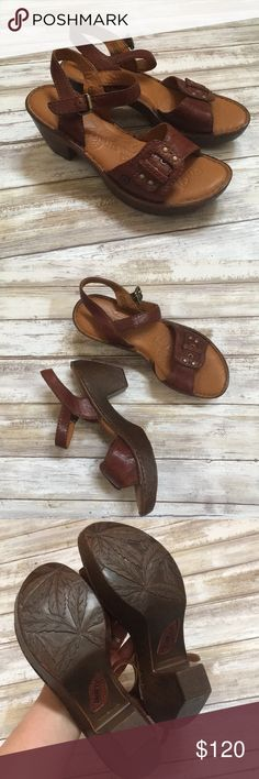 Born brown leather sandals heels New without box, adorable and sooo comfortable. Born Shoes Heels