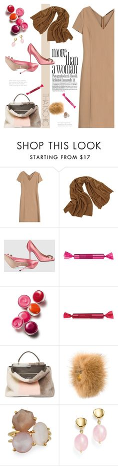 """""""532"""" by believelikebreathing ❤ liked on Polyvore featuring Agnona, JAG Zoeppritz, Gucci, Clinique, Fendi, Muveil, Ippolita, Bloomingdale's and cozychic"""