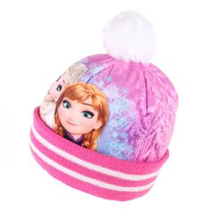 Disney Girls - Frozen - Sisters Smile - Beanie Hat - Pink - X-Small
