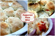 Mommy's Kitchen - Country Cooking & Family Friendly Recipes: Pepperoni Pizza Bites ~ The Perfect Finger Food!