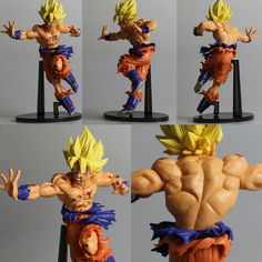 "18cm/7.1"" Anime Dragon Ball DBZ Super Saiyan Goku Figure Figurine Collection Toy 