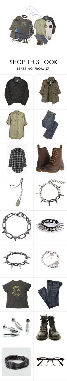 """I Just Wanna Sleep"" by irondeficient ❤ liked on Polyvore featuring Blood Brother, Reef, Burberry, Marc by Marc Jacobs, Madewell, Dr. Martens, Dsquared2, Bardot, Blu Bijoux and WithChic"