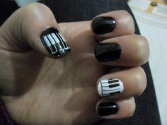 Unhas 7 - Unhas Preto e Branco