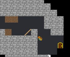Dwarf is exploring a dangerous dungeon and needs your help. He must get to the exit in each level, and your task is to do your best to let him do this. Dig the ground, build stairs and make his way as safe as it is possible.