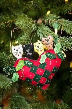 Christmas cats Felt