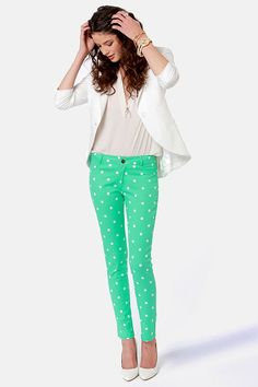 Penny For You Polka Dots Mint Jegging