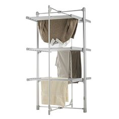 VonHaus Heated Clothes Drying Rack, Foldable 3 Tier Indoor Electric Laundry Airer VonHaus http://www.amazon.com/dp/B015ND58O6/ref=cm_sw_r_pi_dp_z75Swb184Q5RW