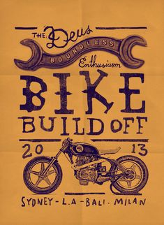Poster Flat #deus #illustration #motorcycles | caferacerpasion.com