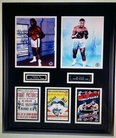 Muhammad Ali and Joe Frazier signed framed and matted lifetime CoA in Aurora, CO (sells for $3,500)