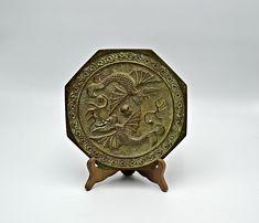 Asian Bronze Magic Mirror, Vintage Antique Collectible