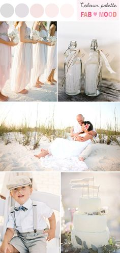 Vintage Chic Beach Wedding - Wedding Colours, Wedding Themes, Wedding colour palettesh