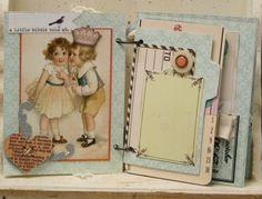 mini book...vintage images