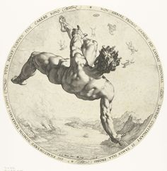 Phaëton, Hendrick Goltzius, 1588 Phaeton was the son of Helios. He convinced his father to be allowed to drive the chariot of the sun across the sky but the horses felt an unfamiliar and weak hand on the reins and ran wildly close to earth, so close that the planet nearly burned. To stop the danger, Zeus destroyed Phaeton with a thunderbolt. The inscription around the image reads: A wise man does not approve ambition, but prizes expressions of praise; he prizes them if they go to good…