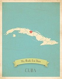 Cuba My Roots Map from Children Inspire Design