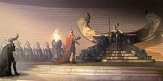 Thor concept art by Vance Kovacs