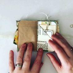 My design project for ARTYmaze, I wanted to make a micro mini jj using her sunflower bloom kit. I love making mini's. Bullet Journal Lettering Ideas, Bullet Journal Writing, Bullet Journal Ideas Pages, Junk Journal, Mini Album Scrapbook, Scrapbook Journal, Travel Scrapbook, Handmade Journals, Handmade Books
