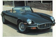 """1971 Jaguar XK-E V12 Series III~The Jaguar E-Type (UK) or XK-E (US) is a British automobile, manufactured by Jaguar between 1961 and 1974. Its combination of good looks and high performance resulted in great success for Jaguar, with more than 70,000 E-Types being sold. It is often referred to as the E-Type Jag, and has subsequently become an icon of 1960s motoring. In March 2008, the Jaguar E-Type ranked first in Daily Telegraph list of the """"100 most beautiful cars"""" of all time."""