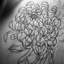 Resultado de imagen de chrysanthemum tattoo black and white