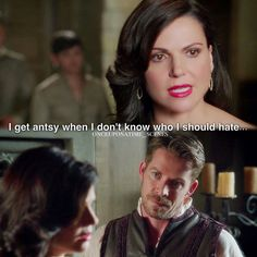 """""""I get antsy when I  don't know who I should hate"""" - Regina and Robin #OnceUponATime"""