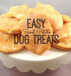 Dog treat recipe, perfect for dogs with allergies! Puppy Treats, Diy Dog Treats, Homemade Dog Treats, Dog Treat Recipes, Dog Food Recipes, Hypoallergenic Dog Treats, Sweet Potato Dog Treats, Food Dog, Dog Training Treats