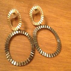 """Circle Around Again"" earrings Gold and gunmetal gray circle earrings Express Jewelry Earrings"