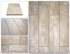 Kaska Porcelain Tile. looks like wood but easier to clean!  Build Direct $3.49