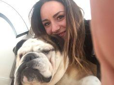 Me and my sweet sweet Bulldog