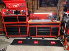 Garage Tool Organization, Diy Garage Storage, Garage Tools, Tool Storage, Workshop Storage, Garage Workshop, Milwaukee Tool Box, Truck Tool Box, Work Tools