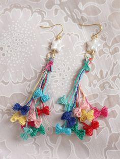 Revisited Etoile Earrings by Kamiori Kaori | Orecchini Fai da Te: i migliori tutorial | Scoop.it