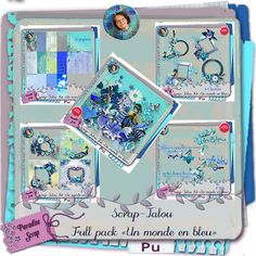 Un Monde en Bleu by ScrapTalou Design http://www.digi-boutik.com/boutique/index.php?main_page=product_info&cPath=22_323&products_id=11098
