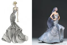 famous fashion designers Sketch 3 .https://au.pinterest.com/don57don/illustrated-first/..