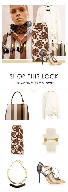 """Baiadera Stripes"" by laste-co ❤ liked on Polyvore featuring Prada, Joseph, Tak.Ori, Marni and Malone Souliers"