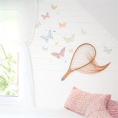 Rosenberry Rooms is offering a 10% discount on your purchase of $350 or more.  Share the news and take advantage of the savings! Butterflies Antique Fabric Wall Decals #rosenberryrooms