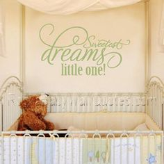 Sweetest Dreams Nursery Wall Words