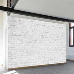 White Washed Brick | Wall Mural | WallsNeedLove