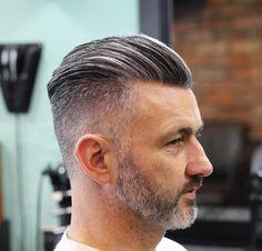Slick Back Haircut Ideas 2020 20 Trendy Slicked Back Hair Styles Cool Hairstyles For Men, Slick Hairstyles, Undercut Hairstyles, Haircuts For Men, Mens Grey Hairstyles, Hairstyles 2016, Party Hairstyles, Hair And Beard Styles, Short Hair Styles