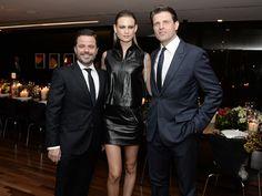 Alexandre Frota, Behati Prinsloo e Anthony Ledru || Créditos: André Ligeiro Inauguração Louis Vuitton.